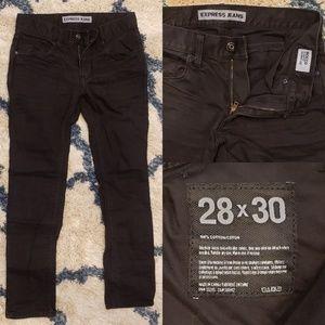 Black Express Rocco Slim Fit Skinny Leg Jeans